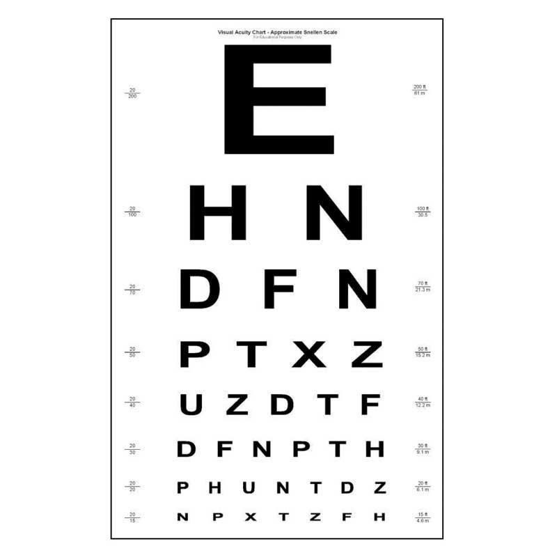It is a photo of Sassy Printable Eye Tests