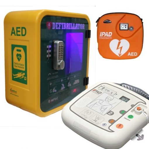 IPAD defibrillator & durafib heated cabinet