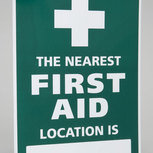 """The Nearest First Aider Location"" Sign"