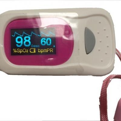 Digital Fingertip Pulse Oximeter - Pink
