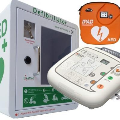 IPAD AED with Indoor AED Cabinet
