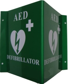 AED 3D Panoramic Wall Sign