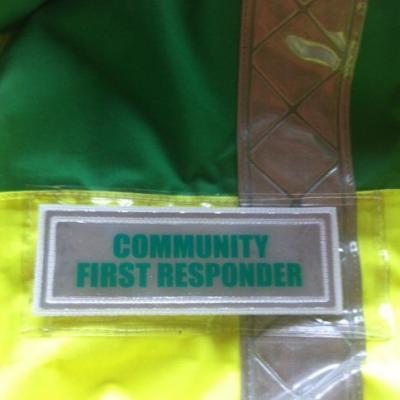 Community First Responder badge