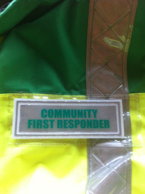 Community First Responder badge