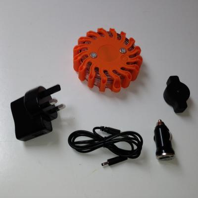 Rechargeable Flashing LED Safety Road Flare - Amber