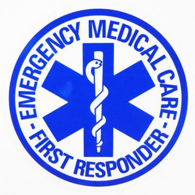 Emergency Medical Care First Responder Window Sticker