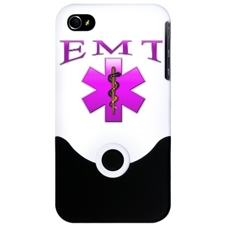 "IPhone 4/4s Pink ""EMT"" Phone Cover"