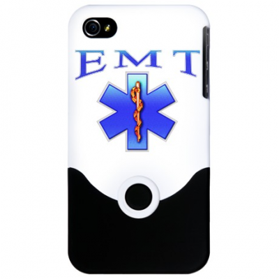 "IPhone 4/4s Blue ""EMT"" Phone Cover"