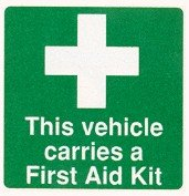 First Aid Car Window Sticker