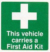 First Aid Car Window Sticker