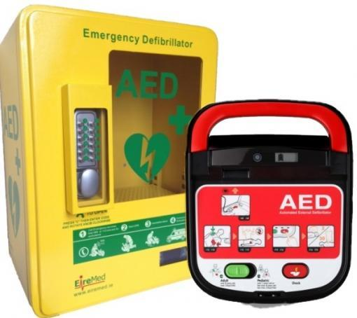 HeartOn A15 AED with Heated Outdoor Cabinet