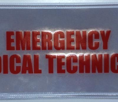Emergency Medical Technician Badge Large Red