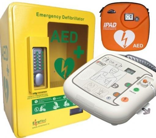 IPAD AED with Outdoor Heated AED Cabinet