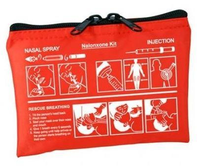 Naloxone Kit Pouch w/ Instructions Pictograph