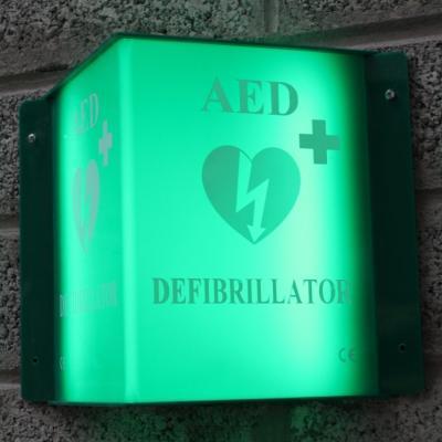Illuminated Defibrillator LED Sign