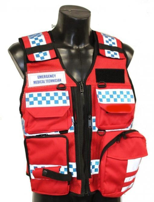 Tactical First Responder Vest - RED