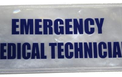 Emergency Medical Technician Badge Large Blue