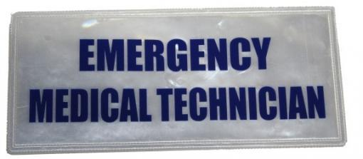 Emergency Medical Technician Badge Large Blue