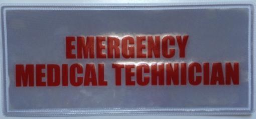 Emergency Medical Technician Badge Small Red