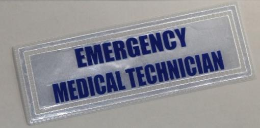 Emergency Medical Technician Badge Small Blue