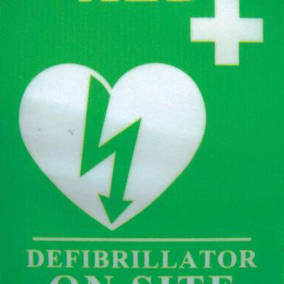 """AED on Site"" Window Sticker"
