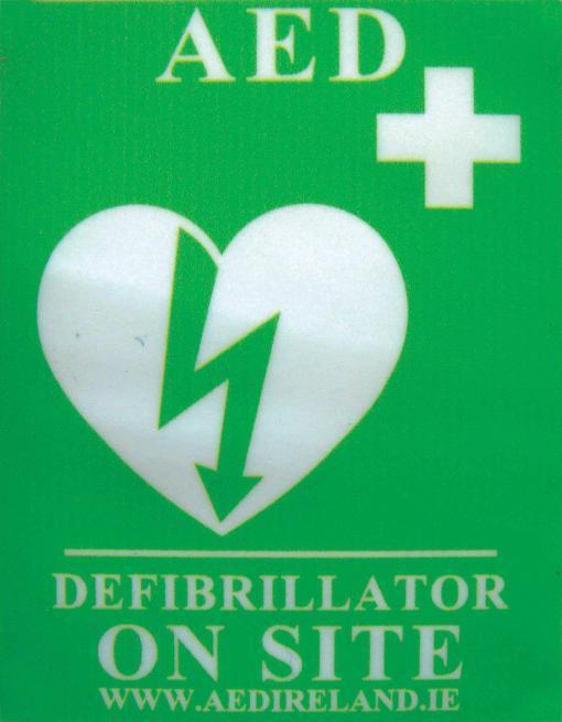 """""""AED on Site"""" Window Sticker"""