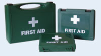 Large Green Empty First Aid Box