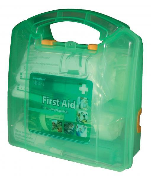 Basic Small Wall Mounted First Aid Box Kitted