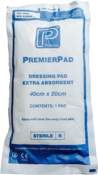 Sterile Absorbent Pads 20cm x 10cm 12 Pack
