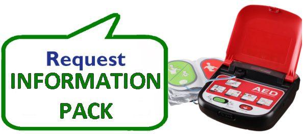 Defibrillator information pack request