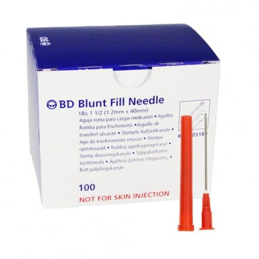 Blunt end draw up needle